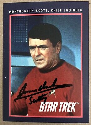James Doohan HAND SIGNED Sports Card Star Trek TOS Scotty