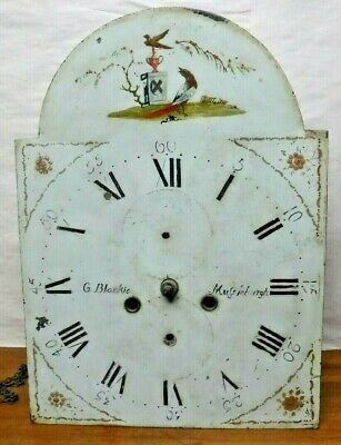 Antique G Blackie Mussleburgh Scottish Tall Case Grandfather Clock Dial Movement