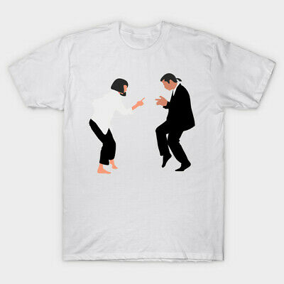 Pulp Fiction Anniversary Funny Mia Wallace Vincent Vega Dancing White T-shirt