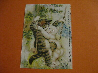 Violette Stickers Victorian cats on swing sticker module  (free ship $20 min)