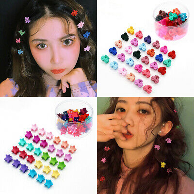 Styling Tool Mini Claw Hair Clips Flower Hairpins Hair Claw Clip Candy Color