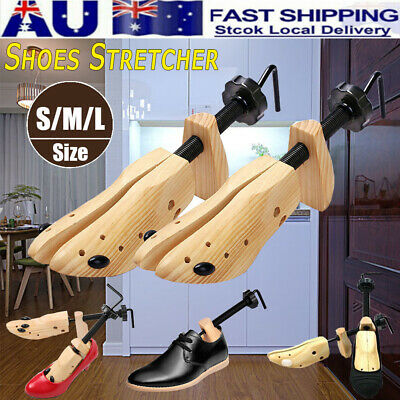 2Pc Wooden Shoes Stretcher Expander Shoe Tree Unisex Bunion Plugs 2-Way AU STOCK