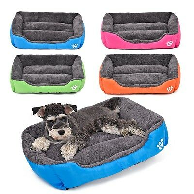 Puppy Cushion House Pet Soft Warm Kennel Dog Mat Blanket Large Pet Dog Cat Bed