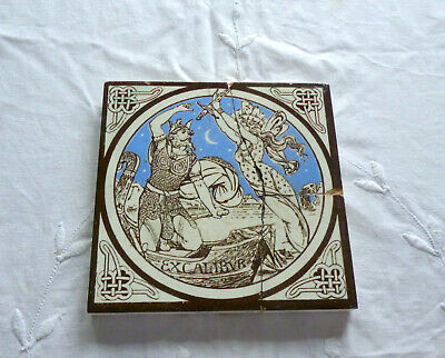 Rare Mintons John Moyr Smith Geraints Idylls of the King Series Antique Tile