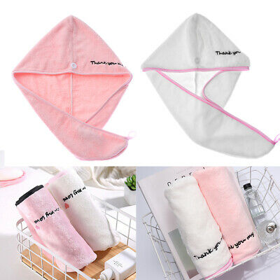 Quick Dry Microfiber Towel Hair Hats Magic Drying Turban Wrap Hat Shower Cap