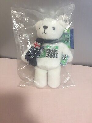 irb rugby Word Cup 2003 Bear - New Sealed