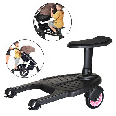Buggy Stroller Step Board Stand Toddler Kids Child Wheeled Pushchair Connector