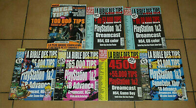 Lot 3 La bible des tips magazine retrogaming Playstation Nintendo Sega Dreamcast