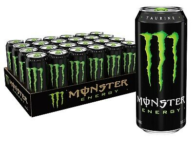 Monster Energy Drink, Green, Original, 16 Ounce (Pack of 24)