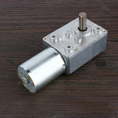 1pc 62RPM Reversible High Torque Worm Geared Motor DC 12V Reduction Motor