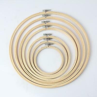 1Set 8 Sizes 100% Bamboo Wood DIY Hand Embroidery Cross Stitch Ring Hoop Frames~
