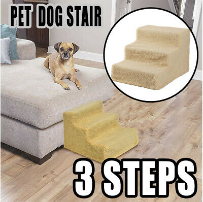3 Step Portable Step Easy Dog Cat Pet Stairs Ramp Ladder For High Tall Bed Sofa