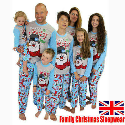 Family Matching Adult Kids Dog Christmas Pyjamas Xmas Nightwear Pajamas PJs Sets