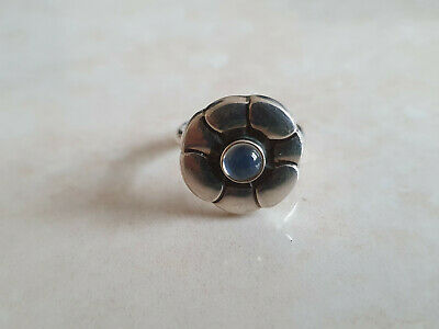 Georg Jensen 925S Sterling Silver Ring with Moonstone #36