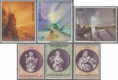 San Marino 936-938,939-941 (complete.issue.) unmounted mint / never hinged 1969