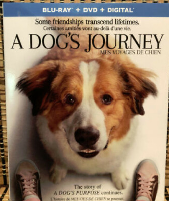 A Dog's Journey (2-Disc Blu-ray/DVD, 2019)+Slipcover.Dennis Quad.Purpose Part 2
