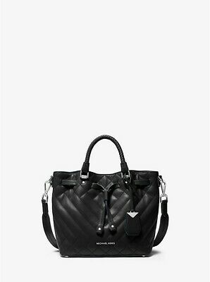 NWT Michael Kors Blakely Small Quilted Leather Bucket Bag / Black