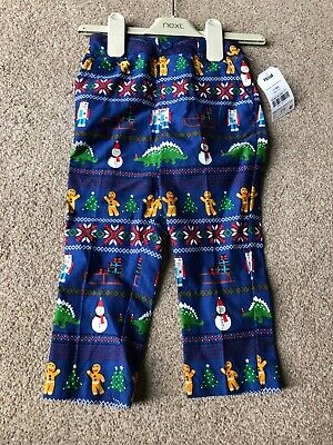 Next Baby Toddler Boys Christmas Trousers All Over Print 18-24 Months