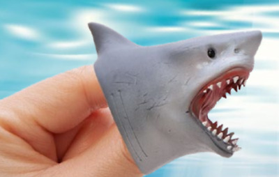 BABY Shark FINGER PUPPET Soft Stretchy Rubber Jaws Song