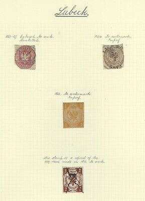 German States - Lubeck - Early Collection On Album Page