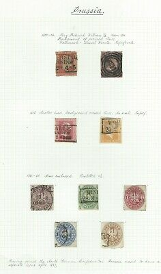 German States - Prussia - Early Collection On Album Page