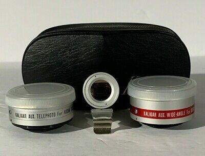 Vintage Kaligar Wide Angle & Telephoto Lens Viewfinder Kodak Instamatic w/ Case