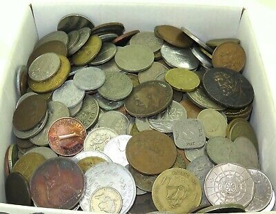 LARGE JOB LOT GENUINELY UNSORTED WORLD COINS, APPROX 4.8 KILO's. #14