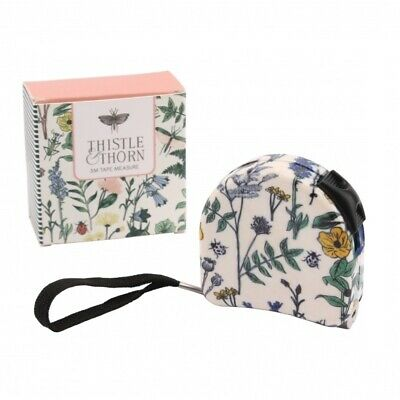 Pretty Thistle & Thorn Floral Tape 3M Retractable Measure Boxed Ideal Gift