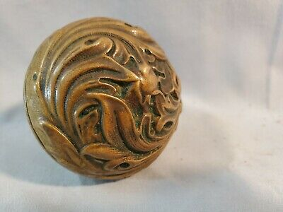 Stunning Antique Brass Art Nouveau Doorknob  NO Reserve