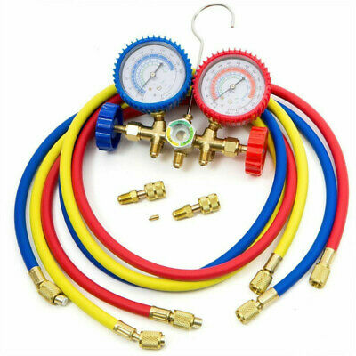 R404A R410A R22 Color Coded Hoses Auto Home Air Conditioning Manifold Gauge Set