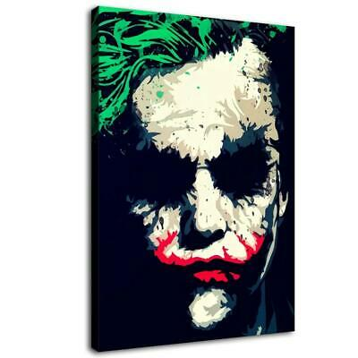 "16""x24""Heath Ledger Joker HD Canvas prints Painting Home decor Picture Wall art"