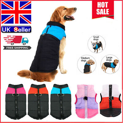 Waterproof Small/Large Pet Dog Clothes Winter Warm Padded Puppy Coat Vest Jacket