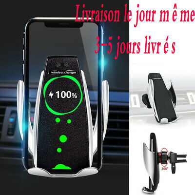 FR STOCK Sans Fil Voiture Chargeur Induction AirVent Support Pour Samsung iPhone