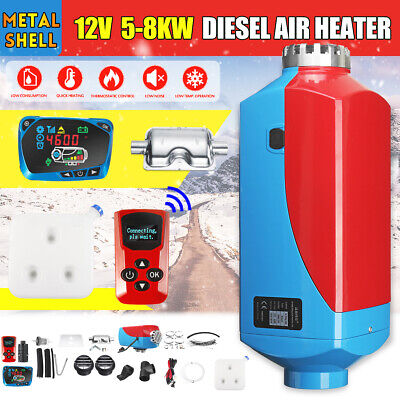 Metal Shell 12V 8KW Diesel Air Diesel Heater + LCD Monitor Switch For Truck Boat
