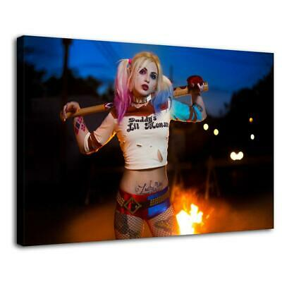 """16""""x24"""" HARLEY QUINN Picture HD Canvas prints Painting Home decor Room Wall art"""