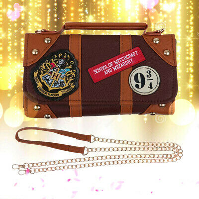 Harry Potter Hogwarts PU School Badge Wallet  Shoulder Bag Package Handbags Gift