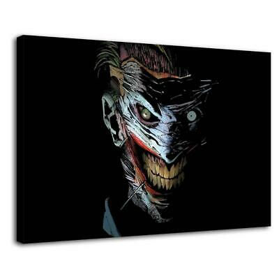 "16""x24""Evil clown jack picture HD Canvas print Painting Home decor room Wall art"