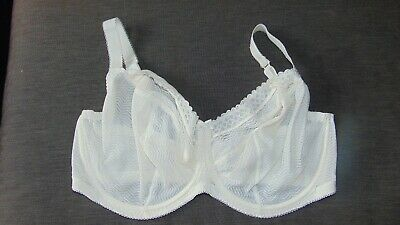 40E  EX STORES NAVY FLORAL NON PADDED FULL CUP UNDERWIRED BRA   NEW BNWOT