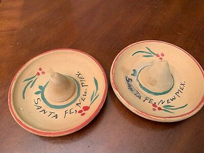 Santa Fe NEW MEX CLAY SOMBREROS 1960 Hats Southwestern decor