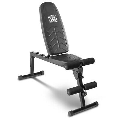 Marcy Pro EasyBuild Adjustable Folding Olympic Weight Bench - Upright to Decline
