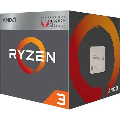 AMD  Ryzen 3 2200g Quad-Core 3.5ghz Processor with Radeon Vega 8 graphics.