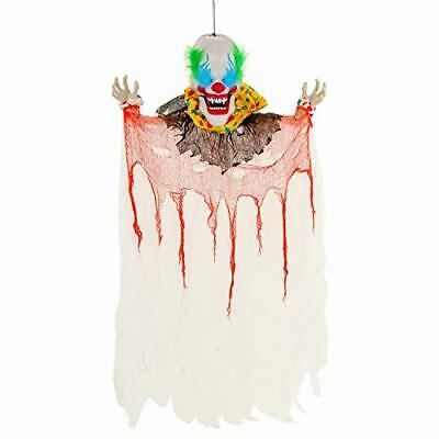 Halloween Haunters Animated Hanging 6 Foot Scary (6 Foot Speaking Clown)