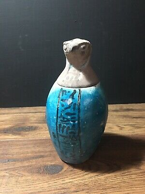 Horus Egyptian Canopic Jar Egyptian God Statue