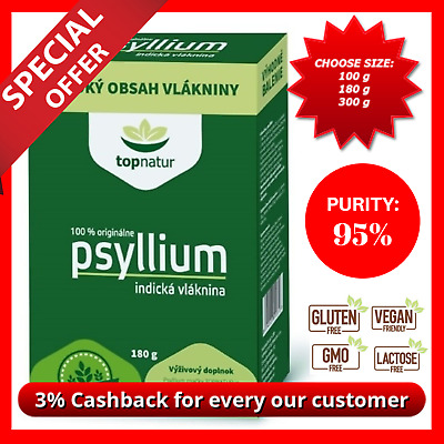 Psyllium Husk Powder Natural Fibre Dietary IBS Colon Cleanse Weight Los 95% Pure