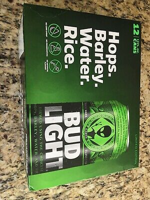 Bud Light Area 51 12 Pack Green Alien Cans Very Limited edition: Full + Unopened