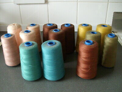 30 X 1000m Branded Polyester Cotton Thread Job Lot Coats Oxelene Polysew