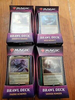 Sealed Throne of Eldraine Brawl Deck Set of 4 mtg magic the gathering eld