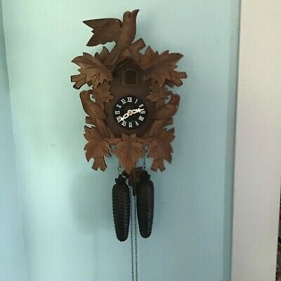 Vintage 8-day Black Forest Cuckoo Clock Works Good