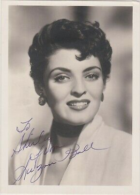 Exceptionally rare signed pic of SUZAN BALL d@21 in 1955 (2nd cousin of Lucille)