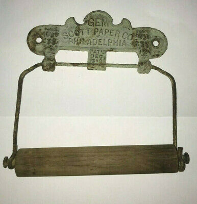Original Vintage Scott Paper Co Toilet Roll Paper Holder Antique